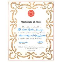AISSIA Certificate of Merit 1990 -91