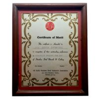 AISSIA Certificate of Merit 1991-92